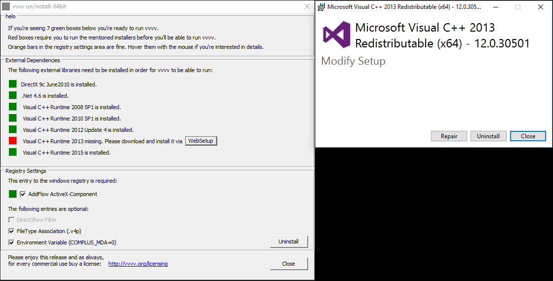 Setup exe did not recognize installed Runtime - bug - Forum