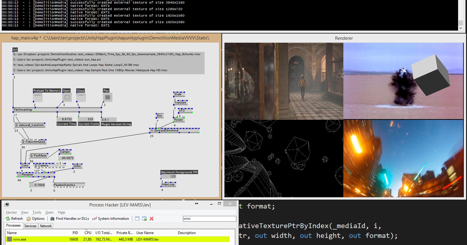 Decent Hap video playback solution for vvvv [GPU video