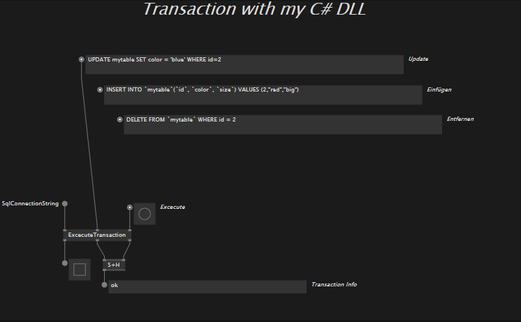 Transaction with my c# DLL